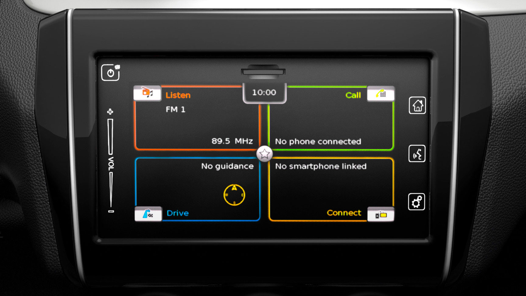 7-inch colour touchscreen