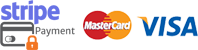 Powered By Stripe. We accept Visa & Mastercard